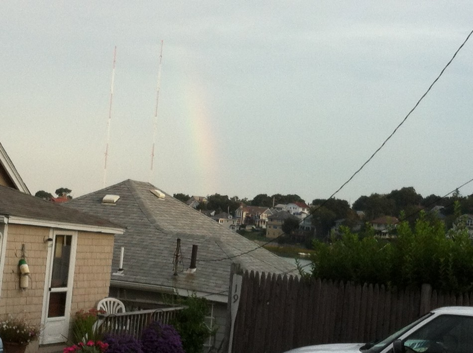 rainbow in the cloud and on the radio
