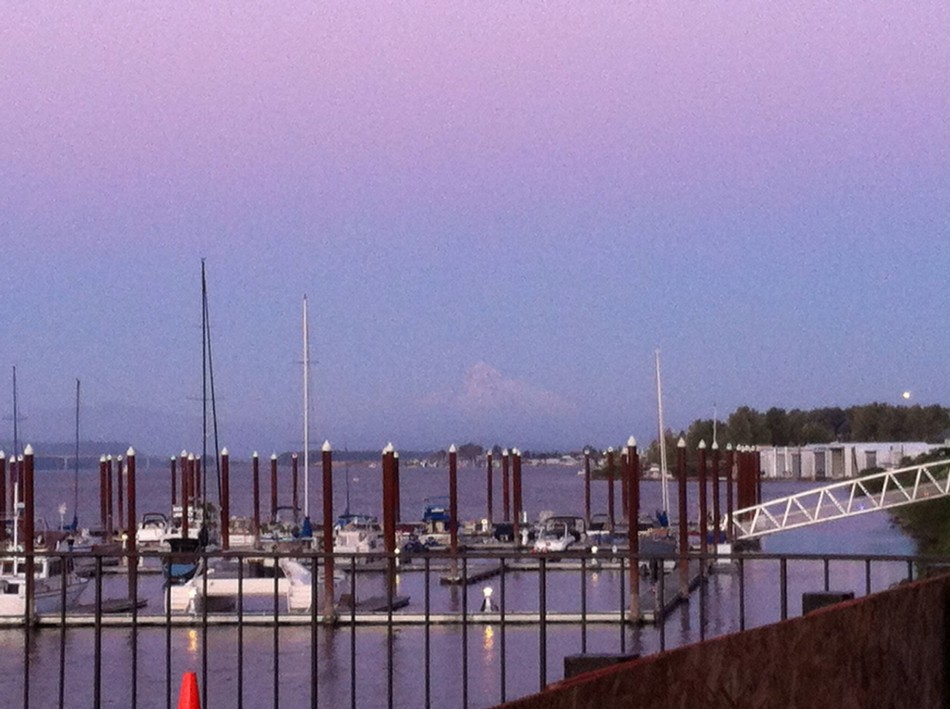 Nobody at the hotel in Portland was sure but most thought this was Mount Rainier.