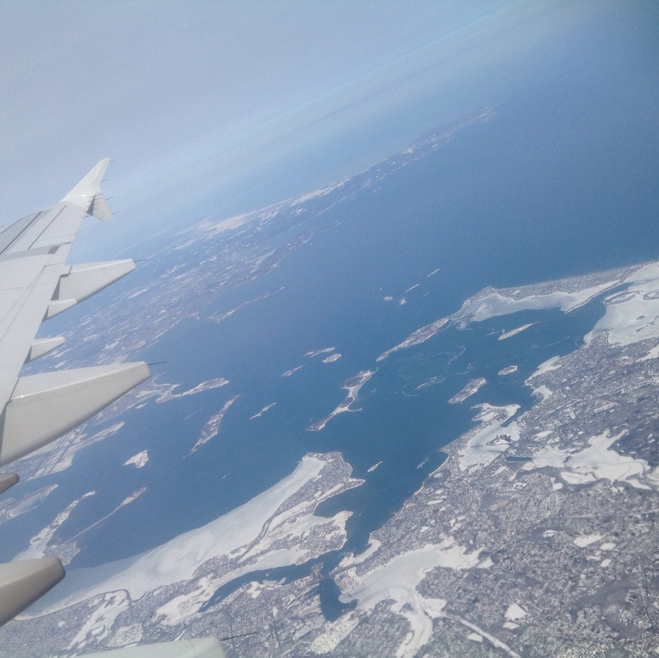 Snowy from above too