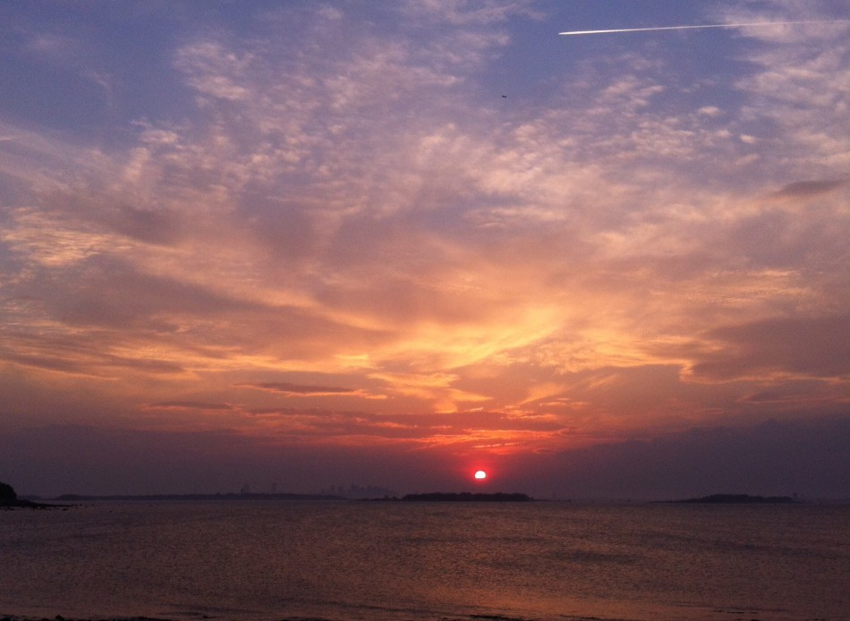 Sundown yesterday